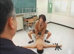 三者面談で父を拘束して担任の男性教師を痴女るJK