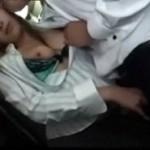 混雑してるバス内で嫁の妹に逆痴漢手コキフェラされる動画